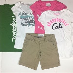 Lot of 5 Aeropostale Girls Clothes Size Small